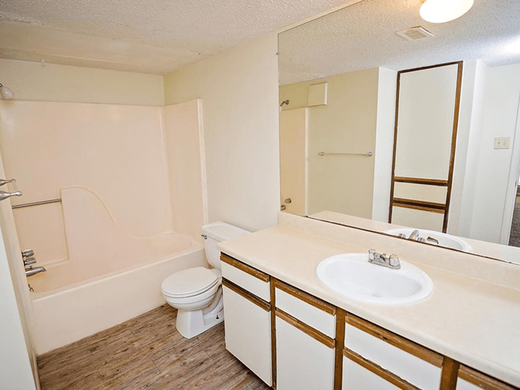 bathroom at Pecan Grove Apartments