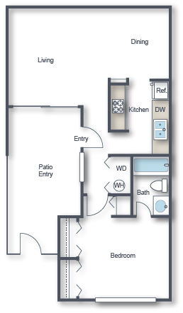 Floor Plans Of Lakeside Casitas In Tucson Az