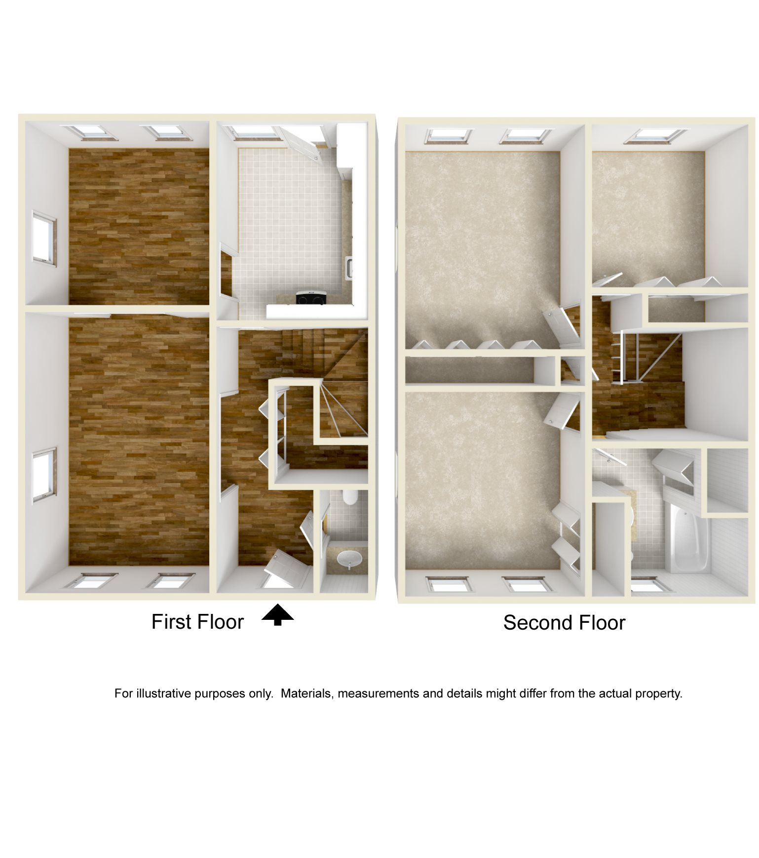 3 Bed Townhouse Floor Plan 4