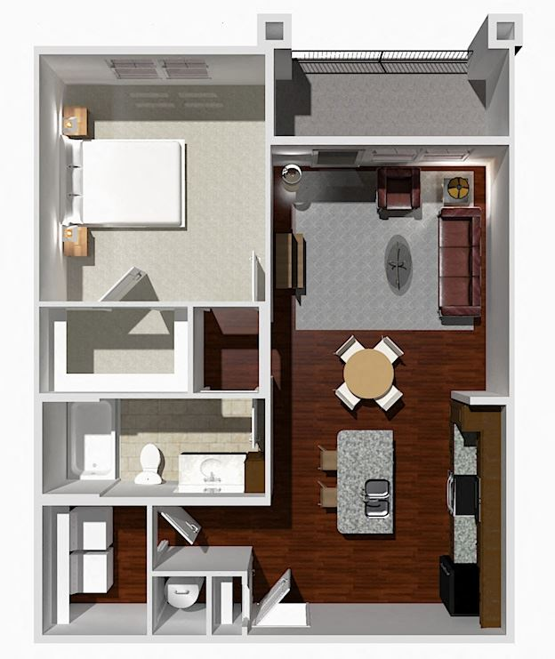 1 Bed 1 Bath- Elm