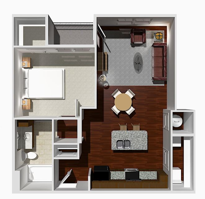 1 Bed 1 Bath- Fir