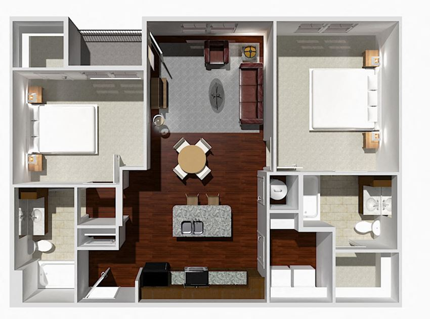 2 Bed 2 Bath- Maple