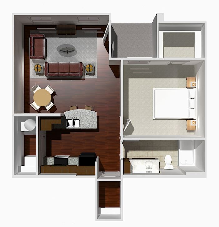 1 Bed 1 Bath- Redbud