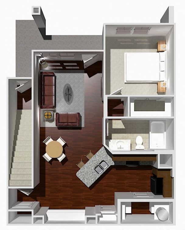 1 Bed 1 Bath- Chestnut