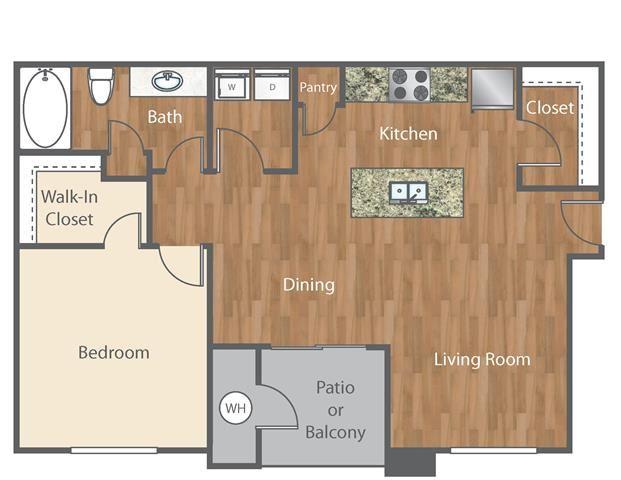 The Hendrix Floor Plan at Bell Austin Southwest, Austin, Texas