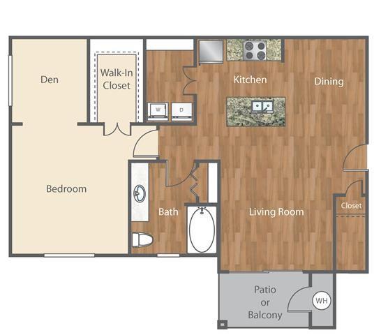 The Joplin Floor Plan at Bell Austin Southwest, Austin