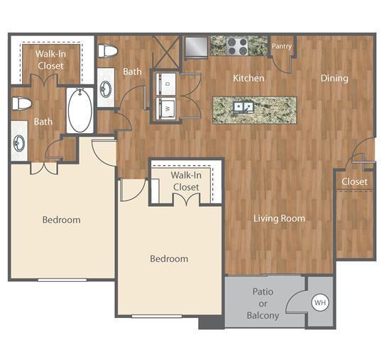 The Lennon Floor Plan at Bell Austin Southwest, Texas