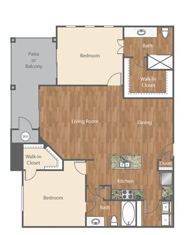 The Morrison Floor Plan at Bell Austin Southwest, Texas, 78749