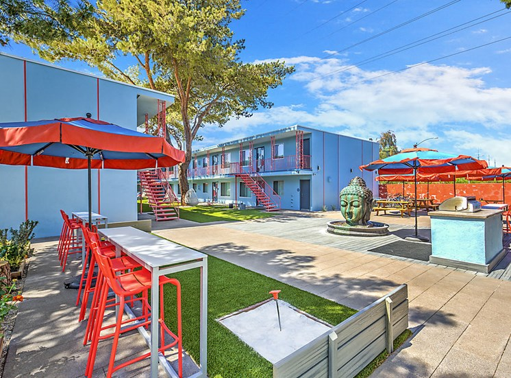 The Neon Apartments Outdoor Space
