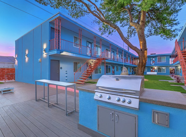 The Neon Apartments BBQ Area