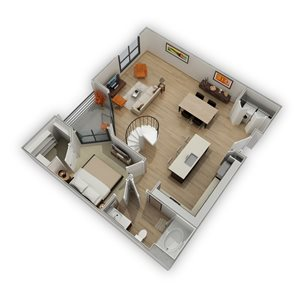 Floor Plan at Biltmore at Camelback, Phoenix, AZ, 85016