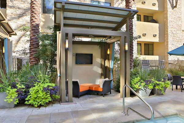 Luxury Cabanas with TVs and Fans  at Camelback, Phoenix, AZ,85016