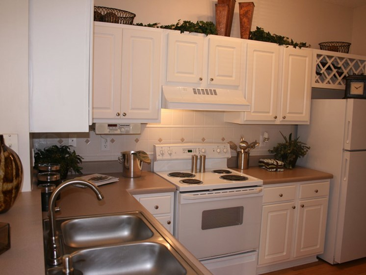 Spacious Kitchen with Pantry Cabinet at Grande Oaks, Roswell
