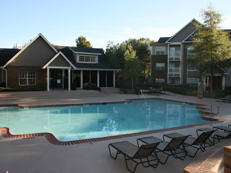 Pool Side Relaxing Area at Grande Oaks