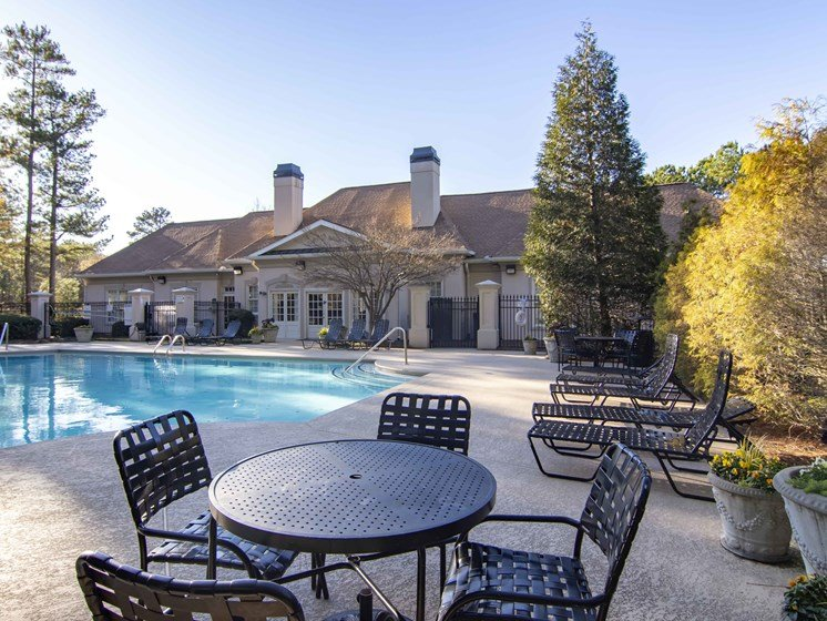 Swimming Pool With Relaxing Chairs at Durant at Sugarloaf, Lawrenceville, GA, 30044