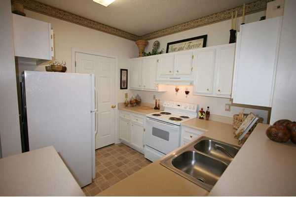white on white appliances and cabinetry at Durant at Sugarloaf