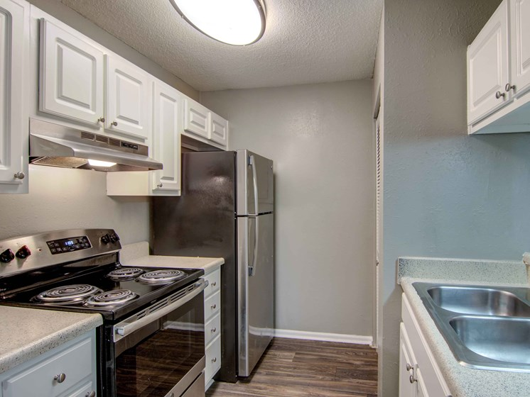 kitchen units at Brook Valley Apartments, Douglasville, GA