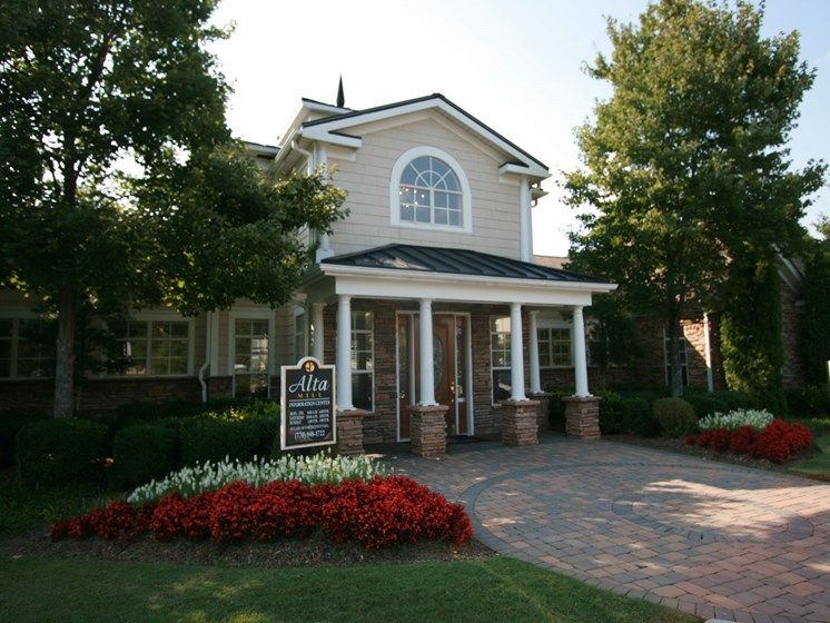 Beautifully Landscaped Groundsat Alta Mill Apartments, 1650 Anderson Mill Road, 30106