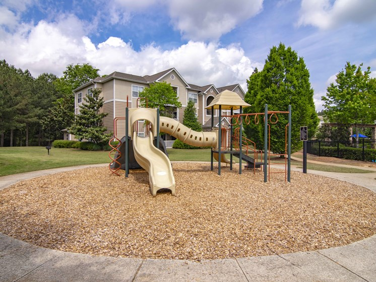 2 playgrounds at Alta Mill cheap 1 bedroom apartments in Austell GA