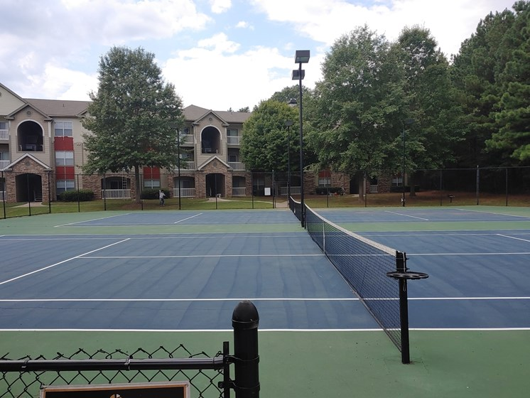 Tennis Court at Alta Mill 1 bedroom apartments in Austell