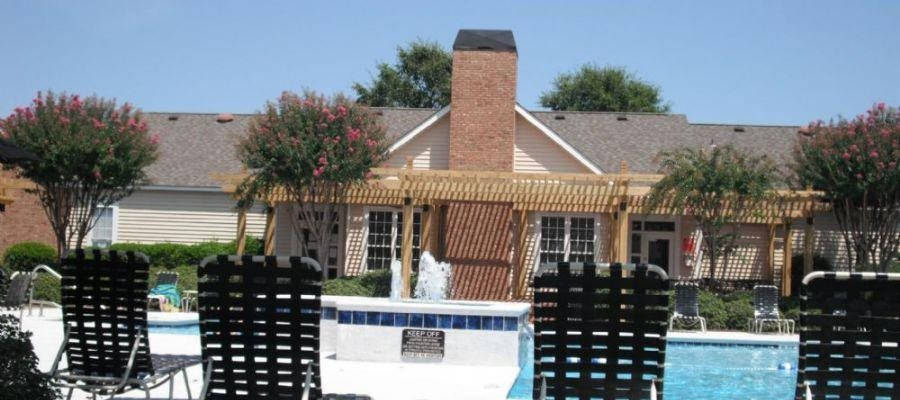 Pool Side Relaxing Area at Bradford Place, GA