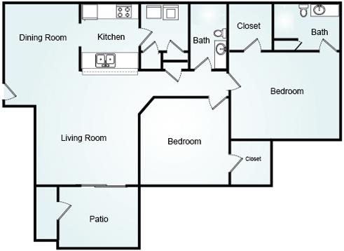 BRIGHTON Floorplan at Bradford Place