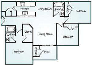 YORKTOWN Floorplan at Bradford Place
