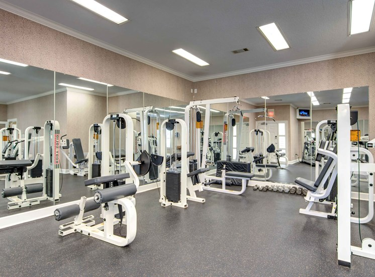 High-Tech Fitness Center at Bradford Place Apartments, Warner Robbins, 31088
