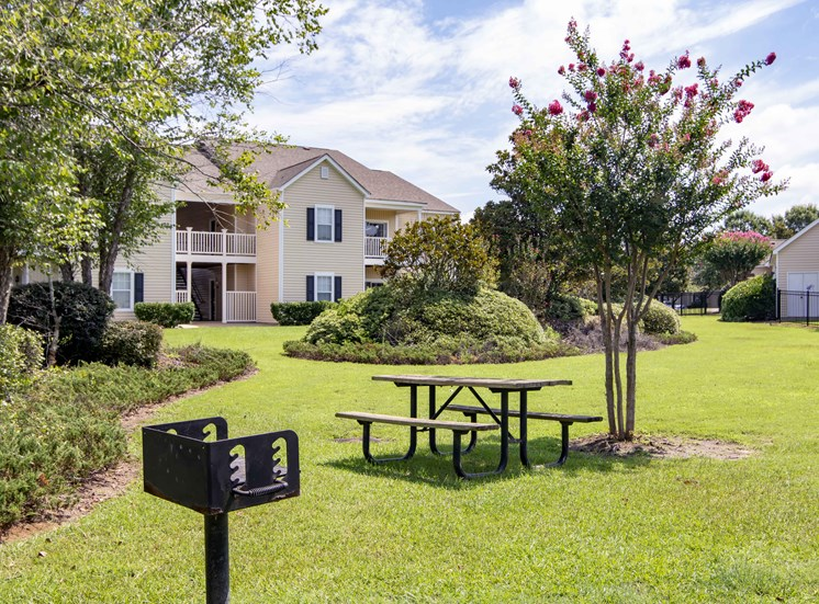 Outdoor Grilling and Relaxing Area at Bradford Place Apartments, Warner Robbins, GA, 31088