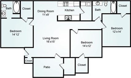 THE CYPRESS Floorplan at Galleria Park