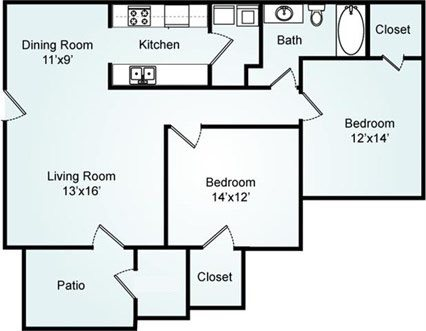 THE DOGWOOD Floorplan at Galleria Park