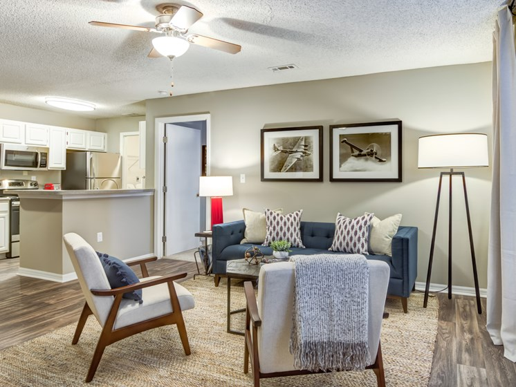 Hardwood Floors And New Light Fixtures at Galleria Park Apartments, Warner Robins, Georgia