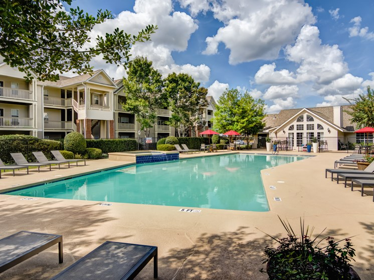 Relaxing Area by the Pool at Galleria Park Apartments, Warner Robins, GA