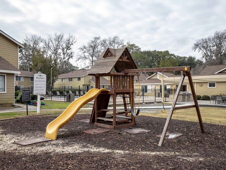 Tot Lot and Playing Field at Royal Oaks Apartments, Savannah, 31406