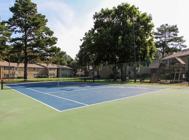 Lighted Tennis Court at Royal Oaks, Savannah