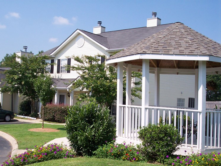 Beautiful Gazebo And Landscaped Grounds at Ashmore Bridge Estates Apartments, 423 West Butler Rd., Mauldin, SC