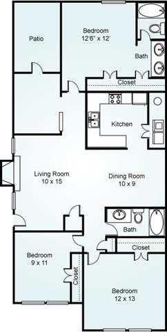 CEDAR Floorplan at Estates at Bellwood
