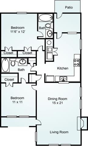 WILLOW Floorplan at Estates at Bellwood