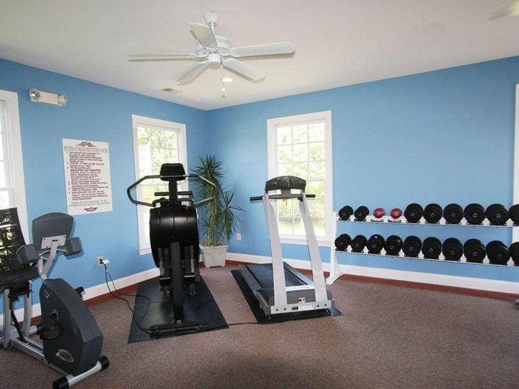 24-Hour Fitness Center, free weights