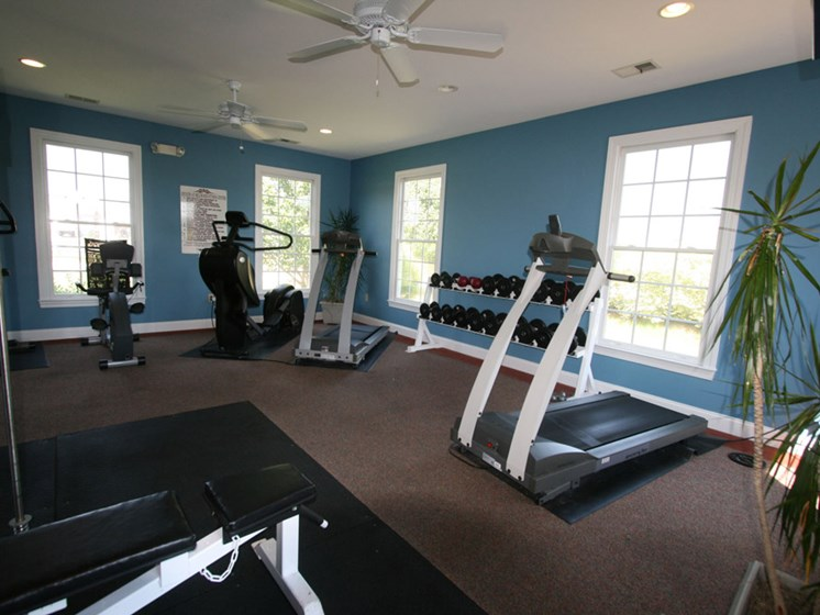 Spacious Fitness Center at Estates at Bellwood
