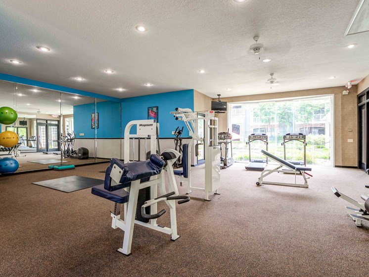 24-Hour Fitness Center, Free Weights, Weighted Machines