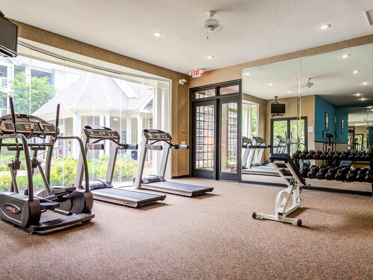 24-Hour Fitness Center, Cardio Machines, Free Weights