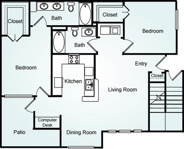 THE ELM ONE Floorplan at Lodge at Mallard Creek