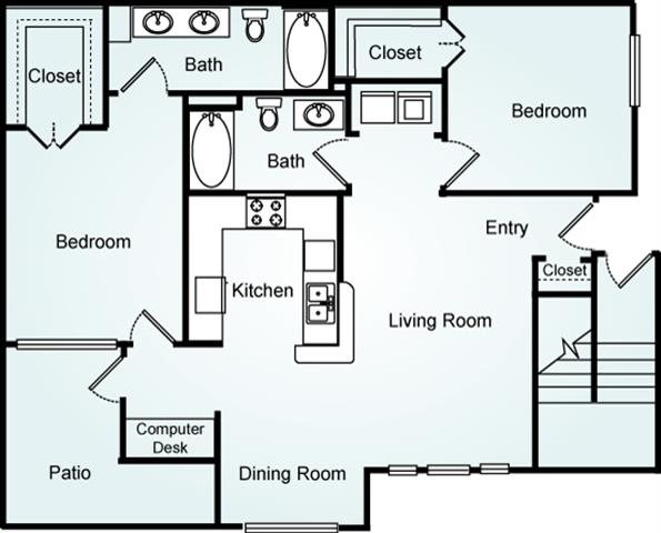 THE ELM TWO Floorplan at Lodge at Mallard Creek