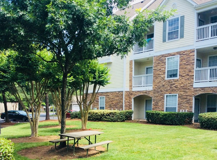 Beautifully Landscaped Grounds at Lodge at Mallard Creek Apartments, Charlotte, NC, 28269