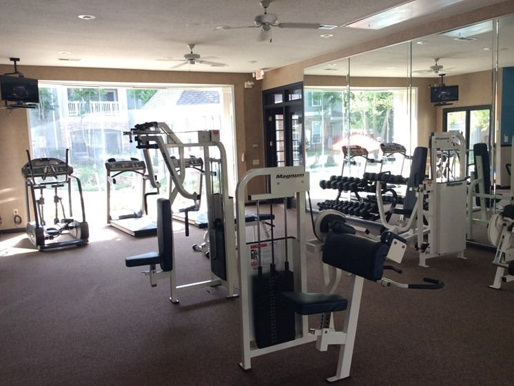 State-of-the-Art Fitness Center at Lodge at Mallard Creek Apartments, Charlotte