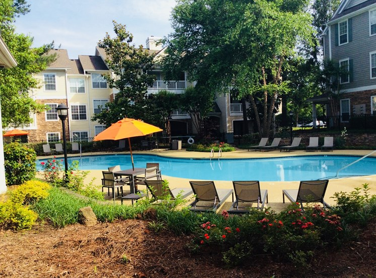 Umbrella By The Pool at Lodge at Mallard Creek Apartments, North Carolina, 28269