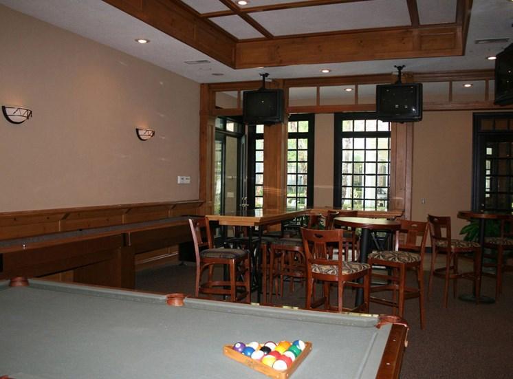 Billiard and Gaming Room at Lodge at Mallard Creek Apartments, 7815 Chelsea Jade Lane, Charlotte
