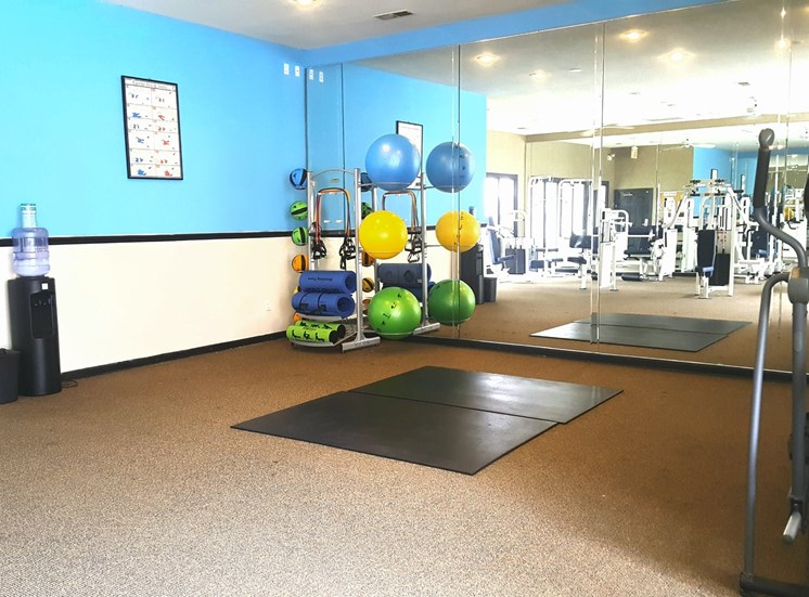 24-Hour Fitness Center at Lodge at Mallard Creek Apartments, Charlotte, NC