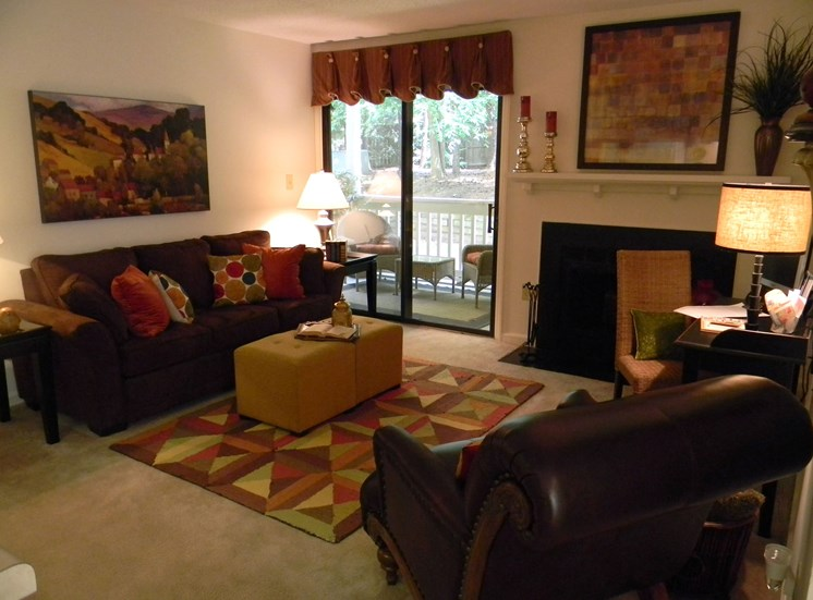 Spacious Living Room at Woodland Park, Greensboro, NC